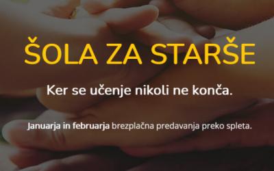 ŠOLA ZA STARŠE – SPREMEMBA !!